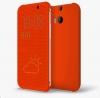 ����� ��� HTC One M8 Dot View Cover HC M100 Orange