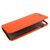 Чехол книжка для Apple iPhone 5 5S UpCase оранжевый боковой