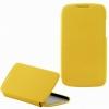 Чехол книжка для HTC Desire 500 Dual Sim UpCase желтый боковой