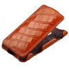 Чехол книжка для HTC Desire 610 Abilita коричневый крокодил