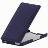 Чехол книжка для Micromax A350 Canvas Knight UpCase синий