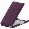 Чехол книжка для Micromax A350 Canvas Knight UpCase фиолетовый