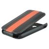 Чехол книжка для Apple iPhone 5 5S UpCase черно-оранжевый