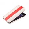 Чехол книжка для Nokia Lumia 820 UpCase бело-красный