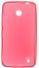Силиконовый чехол для Nokia Lumia 630 Dual sim и для Nokia Lumia 635 TPU 0.5мм красный глянцевый