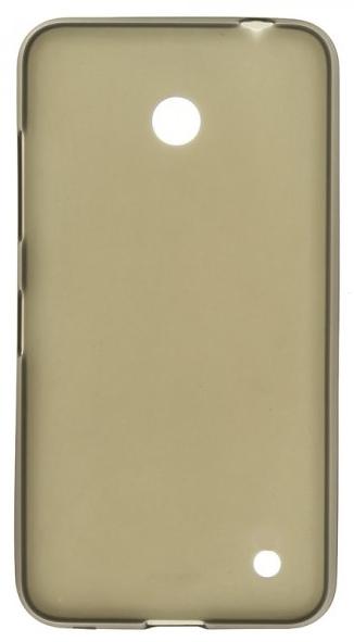 TPU Силиконовый чехол для Nokia Lumia 630 Dual sim и для Nokia Lumia 635 серый матовый