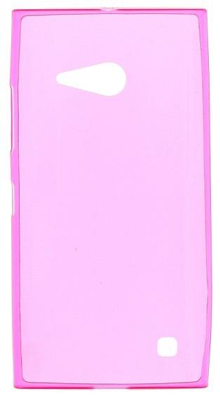 TPU Силиконовый чехол для Nokia Lumia 730 Dual Sim и для Nokia Lumia 735 0.5мм розовый глянцевый
