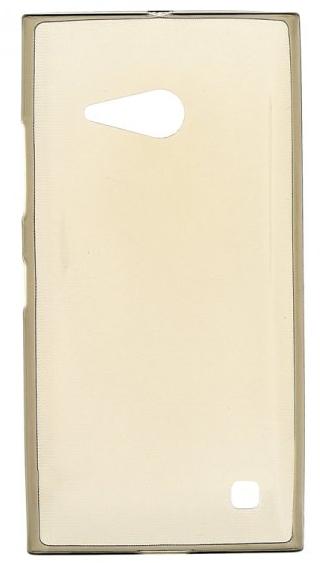 TPU Силиконовый чехол для Nokia Lumia 730 Dual Sim и для Nokia Lumia 735 0.5мм серый глянцевый