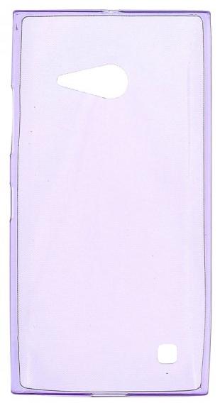 TPU Силиконовый чехол для Nokia Lumia 730 Dual Sim и для Nokia Lumia 735 0.5мм фиолетовый глянцевый