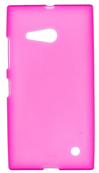 TPU Силиконовый чехол для Nokia Lumia 730 Dual Sim и для Nokia Lumia 735 розовый матовый