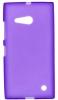 Силиконовый чехол для Nokia Lumia 730 Dual Sim и для Nokia Lumia 735 TPU фиолетовый матовый