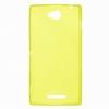Силиконовый чехол для Sony Xperia C C2305 TPU 0.5мм желтый глянцевый