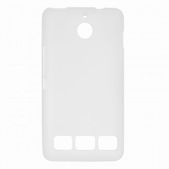 TPU Силиконовый чехол для Sony Xperia E1 белый матовый