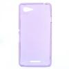Силиконовый чехол для Sony Xperia E3 D2203 TPU 0.5мм фиолетовый глянцевый