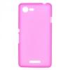 Силиконовый чехол для Sony Xperia E3 D2203 TPU розовый матовый