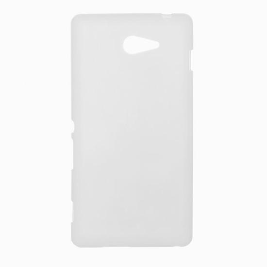 TPU Силиконовый чехол для Sony Xperia M2 Dual Sim D2302 белый матовый