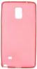 Силиконовый чехол для Samsung Galaxy Note 4 SM-N910C TPU 0.5mm красный глянцевый