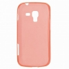 Силиконовый чехол для Samsung Galaxy S Duos 2 GT-S7582 и Samsung Galaxy S Duos S7562 TPU 0.5mm красный глянцевый