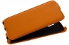Чехол книжка для Microsoft Lumia 532 Dual Sim оранжевый Armor Case