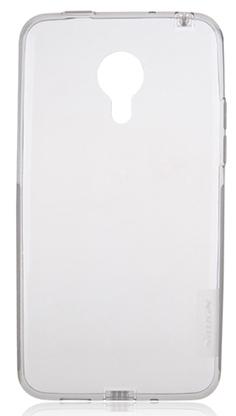 TPU Силиконовый чехол для Meizu MX4 Pro 0.5мм серый глянцевый