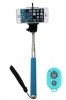 Монопод для селфи Selfie Rod Bluetooth с пультом Blue