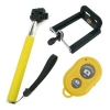 Монопод для селфи Selfie Rod Bluetooth с пультом Yellow