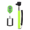 Монопод для селфи Selfie Rod Bluetooth с пультом Green