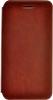 Чехол книжка для Micromax Q380 Canvas Spark Skinbox Lux Коричневый