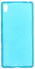 Силиконовый чехол для Sony Xperia Z3+ (E6553) TPU 0.5мм голубой глянцевый
