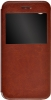 Чехол книжка для ZTE Blade X7 Skinbox Lux AW Коричневый