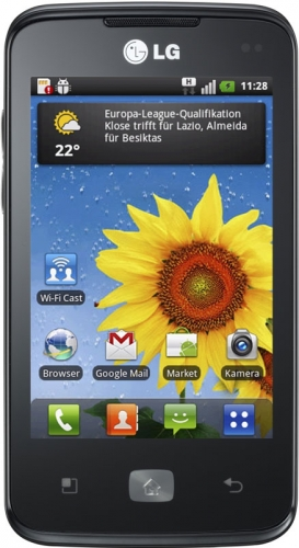 LG Optimus Hub E510 Black