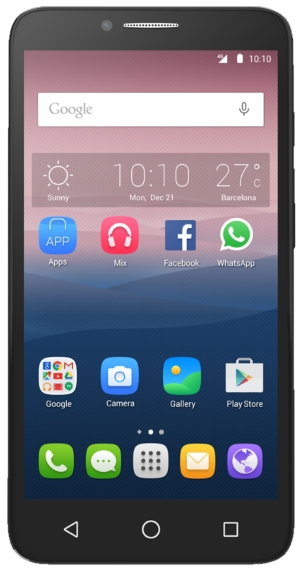 Alcatel One Touch Pop 3 (5.5) 5054D Black Leather