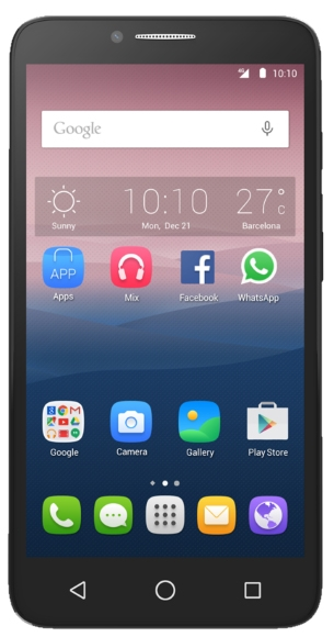 Alcatel One Touch Pop 3 (5.5) 5054D White Leather
