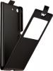 Чехол книжка для Sony Xperia M5 Skinbox Flip Slim AW черный