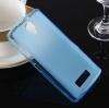 Силиконовый чехол для Lenovo A2010 Skinbox Silicone Case 4People голубой