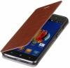 Чехол книжка для Lenovo Sisley S90 Skinbox Lux коричневый