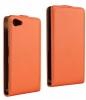 Чехол книжка для Sony Xperia Z5 Compact Чехольчикофф Премиум Оранжевый
