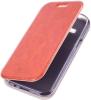 Чехол книжка для Samsung Galaxy J1 SM-J100FN Skinbox Lux Коричневый