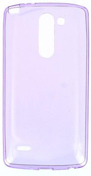 TPU Силиконовый чехол для LG G3 Stylus D690 0.5мм Фиолетовый глянцевый