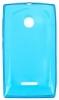 Силиконовый чехол для Microsoft Lumia 532 Dual Sim TPU 0.5мм Голубой глянцевый