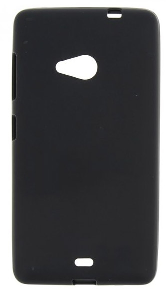 TPU Силиконовый чехол для Microsoft Lumia 535 Dual Sim Черный матовый