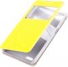 Чехол книжка для Philips Xenium W6610 Skinbox Lux AW Желтый