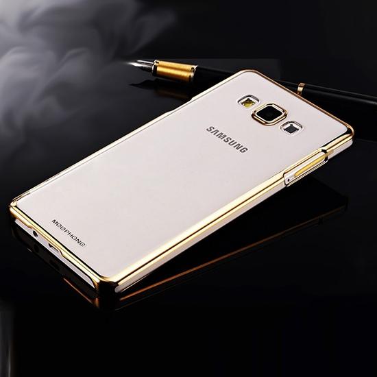 Hallsen Силиконовый чехол для Samsung Galaxy A5 SM-A500F Прозрачный с золотыми краями