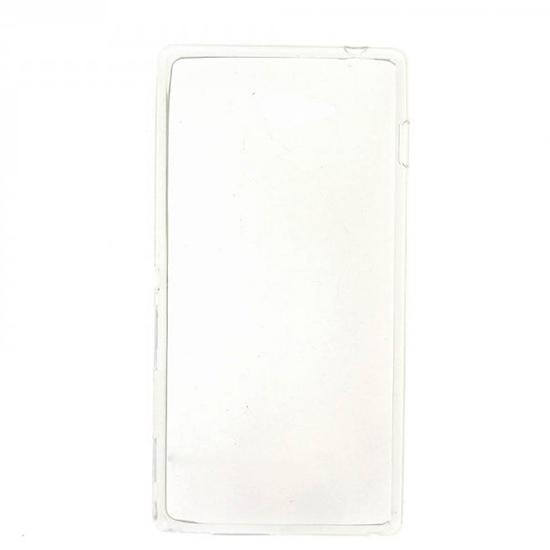 TPU Силиконовый чехол для Sony Xperia M2 Dual Sim D2302 0.5мм Прозрачный глянцевый