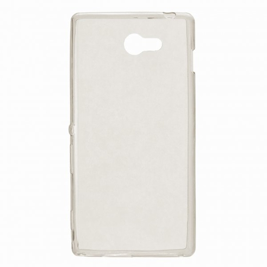 TPU Силиконовый чехол для Sony Xperia M2 Dual Sim D2302 0.5мм Серый глянцевый
