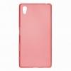 Силиконовый чехол для Sony Xperia Z5 Premium TPU 0.5мм Красный глянцевый