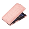 Чехол книжка для Nokia Lumia 820 UpCase Светло розовый крокодил