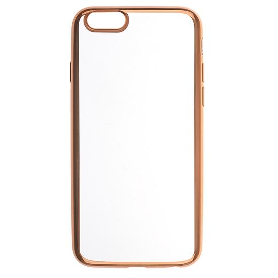 Силиконовый чехол Skinbox для Apple iPhone 6S Silicone Chrome Border 4People Золотой фото