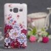 Силиконовый чехол для Samsung Galaxy J3 (2016) Чехольчикофф Цветы 3