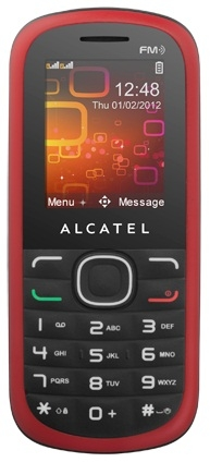 Alcatel One Touch 318D Deep Red